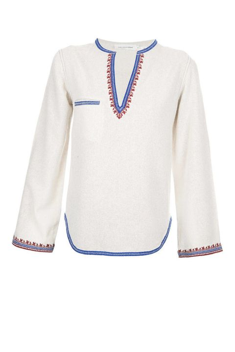 Blue, Product, Collar, Sleeve, Textile, Outerwear, White, Jersey, Pattern, Sweater,