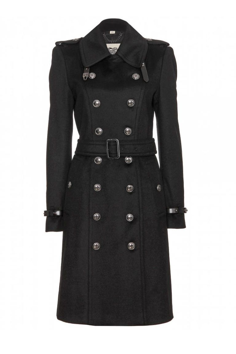 burberry london double breasted wool trench coat