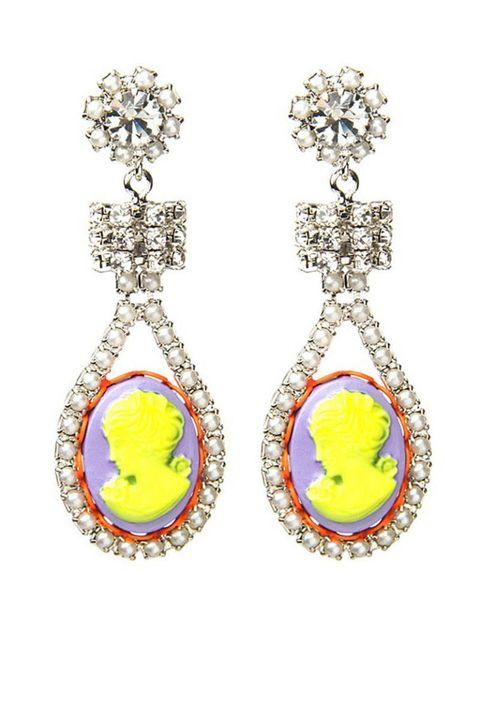 tom binns crystal cameo earrings