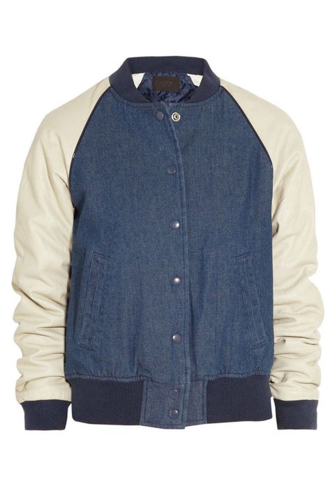 Clothing, Blue, Product, Collar, Sleeve, Textile, Jacket, Coat, Outerwear, White,