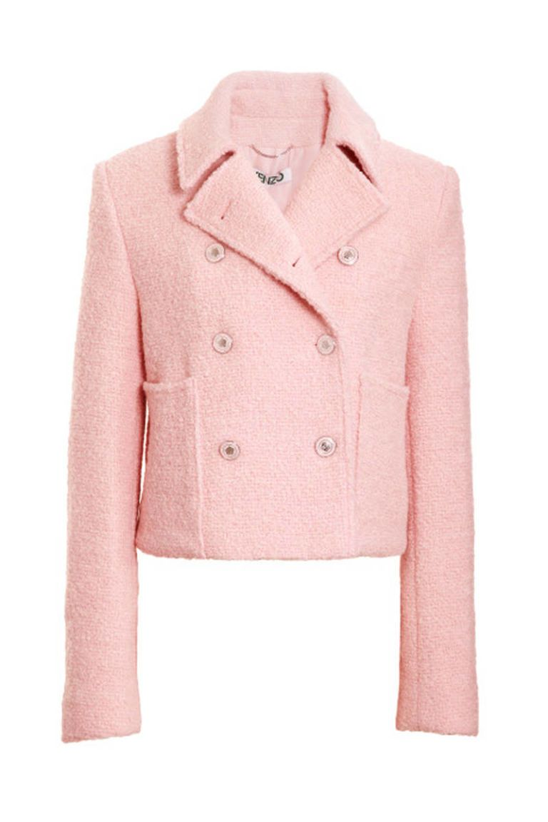 kenzo short boiled wool pink jacket