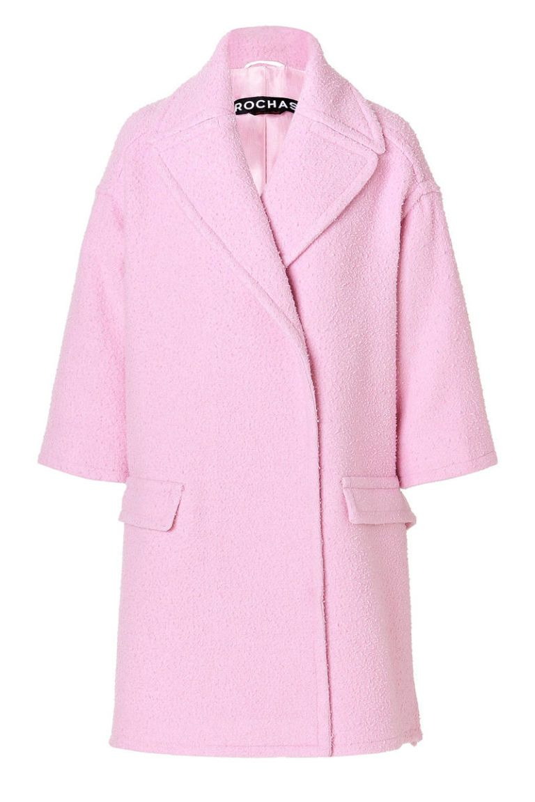 rochas virgin wool blend coat