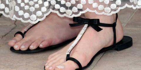 Toe, Sandal, Pattern, Foot, High heels, Fashion, Nail, Ankle, Lace, Basic pump,