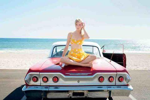 Vehicle, Automotive design, Fun, Coastal and oceanic landforms, Land vehicle, Car, Automotive exterior, Coast, Hood, Ocean,