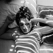 Black hair, Black-and-white, Monochrome photography, Photo shoot, Model, Fashion model, Headpiece, Stock photography,