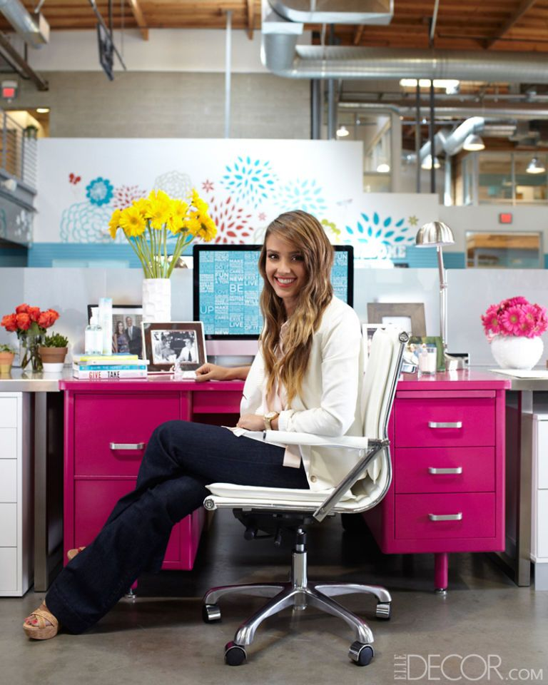How To Decorate An Office With Jessica Alba