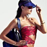 Clothing, Eyewear, Arm, Vision care, Glasses, Shoulder, Strapless dress, Hand, Joint, Dress,