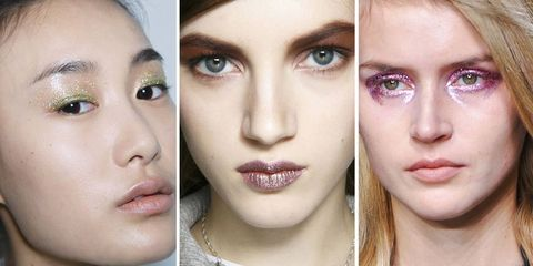 Seen on the Runways: Glittery Makeup Galore