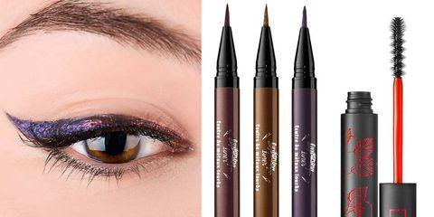 Brown, Eyebrow, Purple, Eyelash, Violet, Pink, Colorfulness, Magenta, Style, Tints and shades,