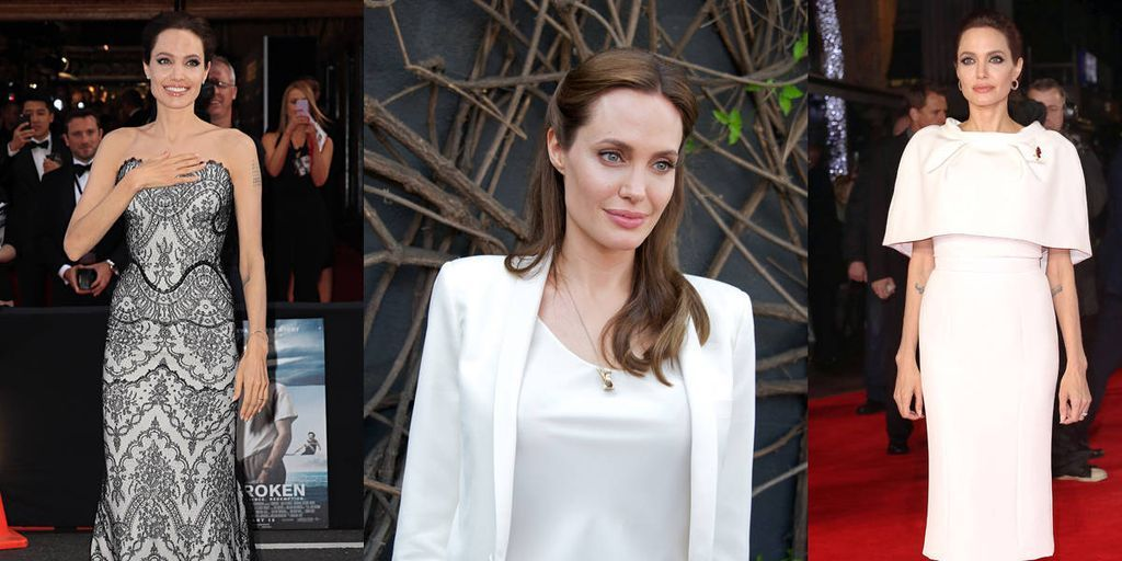 A Look at Angelina Jolie's Oscar-Courting Outfit Choices