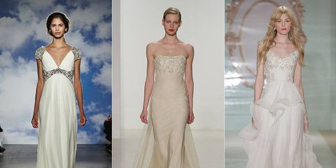 One Shoulder Dresses D And Ivy Like Embroidery Were All Over The Bridal Fashion Week Runways For Brides To Be Who Aren T Looking A More