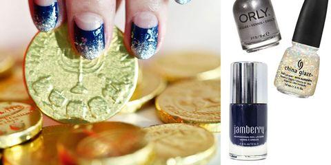 How To Create Haute Hanukkah Nails Hanukkah Nail Art Tutorial