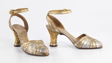 Footwear, Brown, High heels, Sandal, Tan, Fashion, Metal, Beige, Natural material, Basic pump,