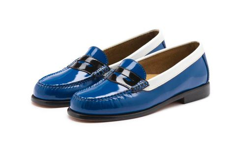 Blue, Electric blue, Beige, Ballet flat, Natural material, Leather, Dress shoe, Slipper,