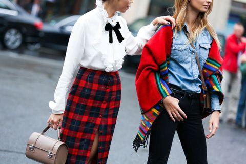 Sleeve, Textile, Tartan, Pattern, Plaid, Style, Street fashion, Uniform, Fashion, Denim,