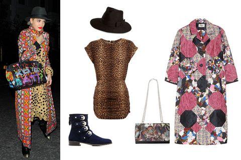 Hat, Sleeve, Pattern, Textile, Style, Dress, Formal wear, Headgear, Fashion, Boot,