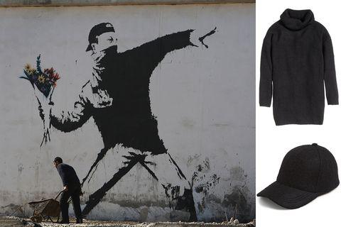 Sleeve, Costume accessory, Art, Street art, Bicycle wheel, Bicycle tire, Graffiti, Painting, Illustration, Artwork,