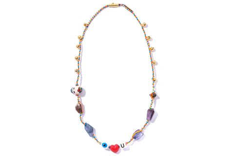 Jewellery, Fashion accessory, Amber, Body jewelry, Aqua, Natural material, Lavender, Violet, Circle, Turquoise,