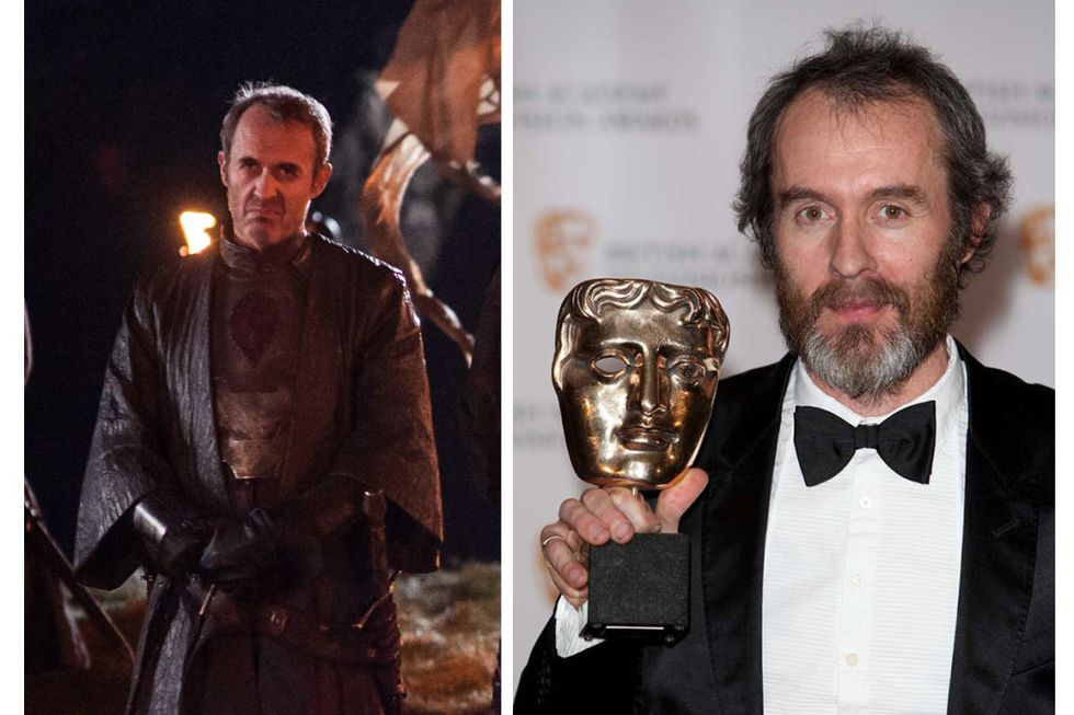 Stannis Baratheon (Stephen Dillane) Transformation : 2, which is probably pretty arbitrary, but the real-life facial hair sort of made me think Stephen Dillane was Steven Spielberg.