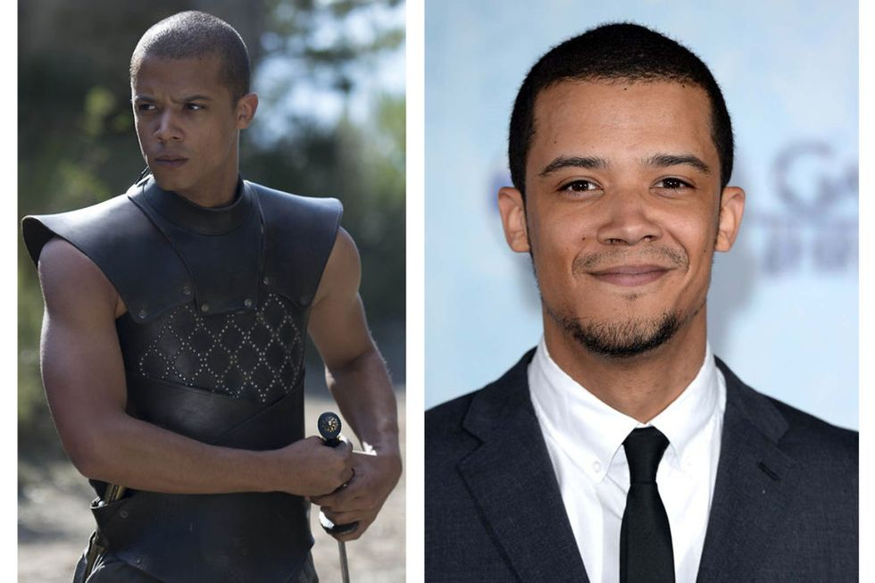 Grey Worm (Jacob Anderson) Transformation : 4. 1 point because he doesn't keep his hair shorn so short in real life, and 3 points because he is allowed to wear sleeves!