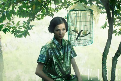 Green, Net, Mesh, Visual arts, Transparent material, Portrait photography, Cage, Pattern,