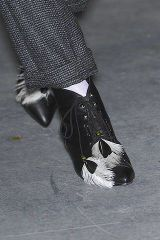 Black, Grey, Black-and-white, Ankle, Silver, Foot, Sandal,