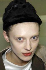 Lip, Cheek, Hairstyle, Eye, Chin, Forehead, Eyebrow, White, Style, Headgear,