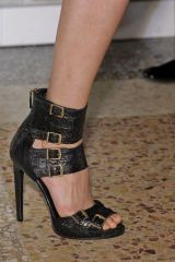 Human leg, High heels, Floor, Joint, White, Flooring, Sandal, Style, Foot, Beauty,