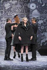 Leg, People, Photograph, Standing, Winter, Fashion, Black, Overcoat, Boot, Snapshot,
