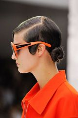 Ear, Hairstyle, Chin, Forehead, Earrings, Red, Collar, Orange, Style, Fashion,