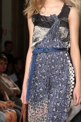 Blue, Shoulder, Textile, Joint, Dress, Style, Formal wear, Pattern, Fashion, Beauty,