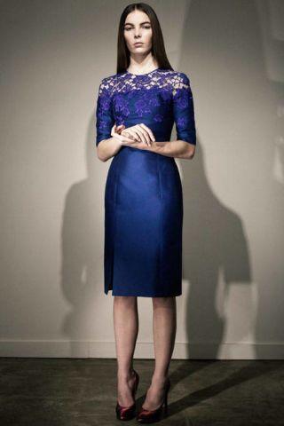 Clothing, Blue, Dress, Sleeve, Shoulder, Shoe, Joint, Standing, Formal wear, One-piece garment,