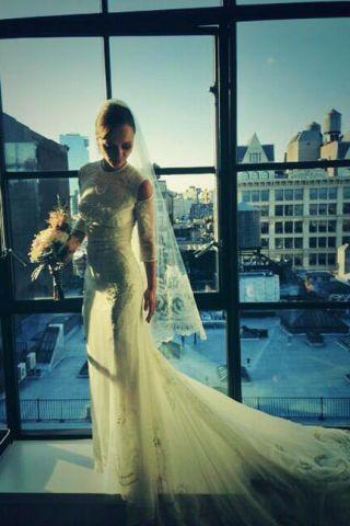Clothing, Dress, Bridal clothing, Shoulder, Textile, Photograph, Gown, Formal wear, Wedding dress, Glass,