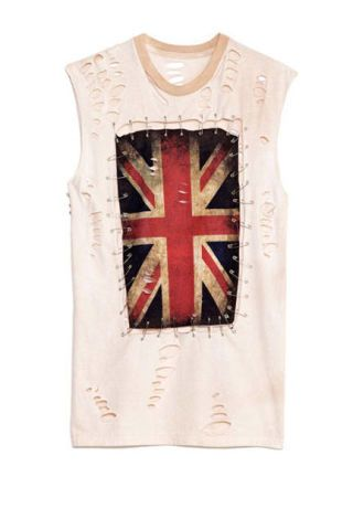 any old iron union jack safety pin tee