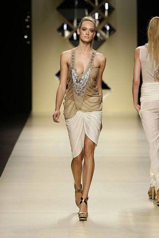 Clothing, Fashion show, Human body, Shoulder, Waist, Joint, Fashion model, White, Runway, Style,