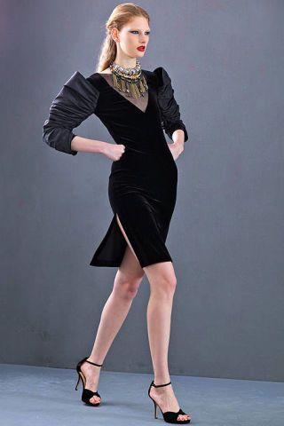 Clothing, Leg, Dress, Sleeve, Human leg, Shoulder, Shoe, Standing, Joint, Formal wear,