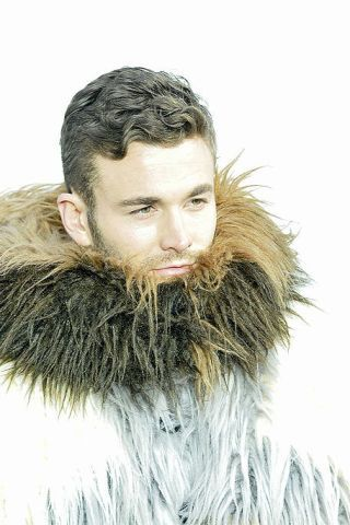 Human, Facial hair, Hairstyle, Chin, Eyebrow, Textile, Beard, Moustache, Jaw, Fur clothing,
