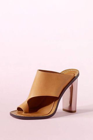 Footwear, Brown, High heels, Tan, Khaki, Leather, Beige, Still life photography, Clog, Strap,