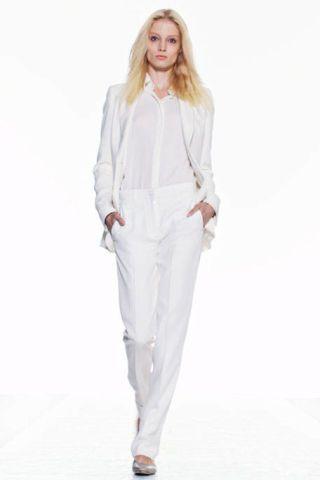 Clothing, Sleeve, Shoulder, Fashion show, Textile, Joint, White, Style, Fashion model, Runway,