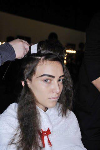 Lip, Hairstyle, Forehead, Eyebrow, Wrist, Black hair, Eyelash, Long hair, Gesture, Brown hair,