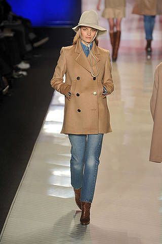 Clothing, Brown, Sleeve, Coat, Joint, Outerwear, Standing, Collar, Fashion show, Style,