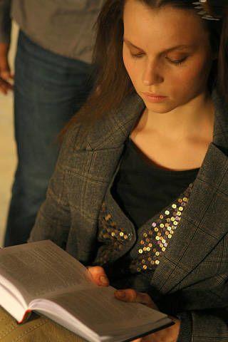Sitting, Denim, Publication, Black hair, Eyelash, Book, Long hair, Reading, Book cover, Layered hair,