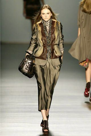 Clothing, Footwear, Brown, Shoulder, Textile, Joint, Outerwear, Fashion show, Style, Fashion model,