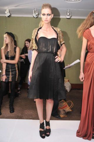 Clothing, Dress, Shoulder, Joint, Formal wear, Style, One-piece garment, Fashion accessory, Waist, Fashion,