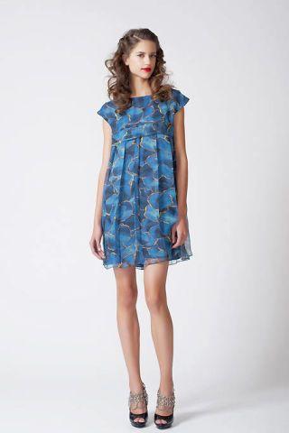 Clothing, Footwear, Blue, Sleeve, Dress, Human leg, Shoulder, Joint, Standing, One-piece garment,