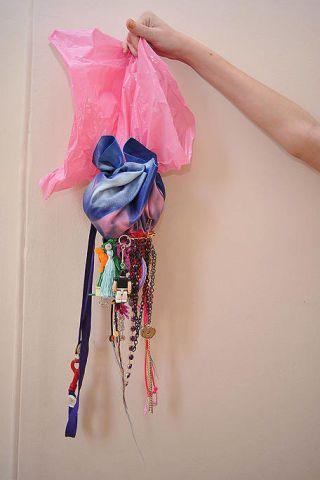Textile, Pink, Magenta, Stole, Shawl, Knot, Thread,