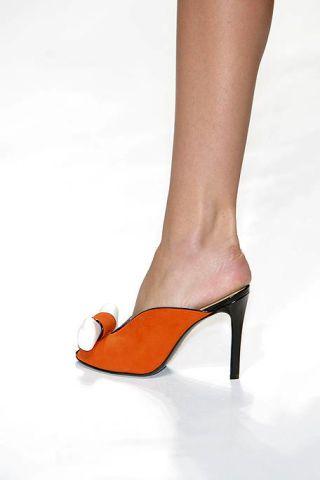Footwear, High heels, Joint, Human leg, Basic pump, Orange, Fashion, Tan, Foot, Court shoe,