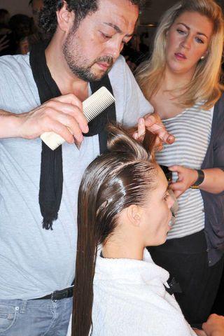 Hair, Head, Ear, Hairstyle, Forehead, Eyebrow, Beauty salon, Style, Facial hair, Hairdresser,