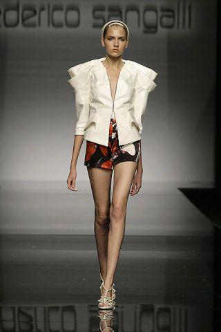 Clothing, Skin, Fashion show, Human leg, Outerwear, Runway, Fashion model, Style, Fashion accessory, Thigh,