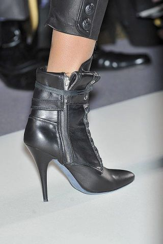Footwear, High heels, Fashion, Leather, Black, Material property, Fashion design, Foot, Boot, Silver,